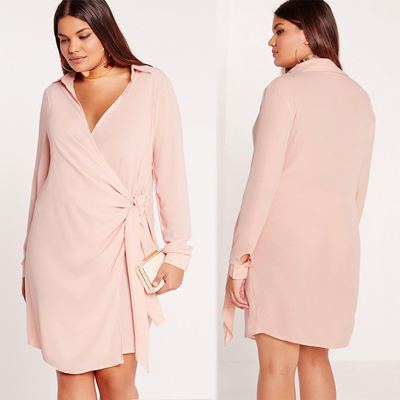 New Design Nude Plus Size Shirts & Blouses Sexy Cross Dress